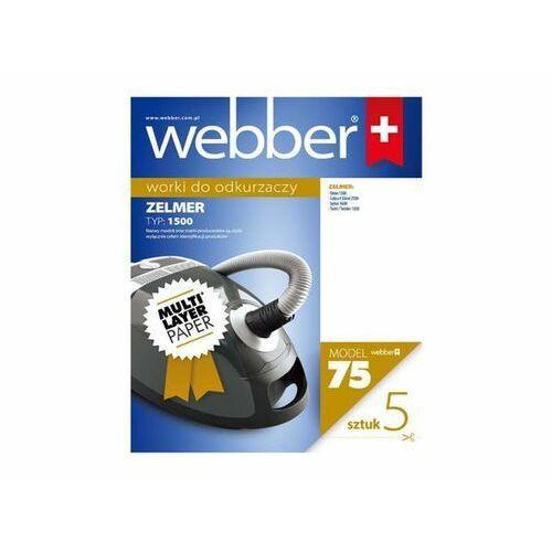 WEBBER Worki papierowe ZELMER 1500 (75) 5 szt.
