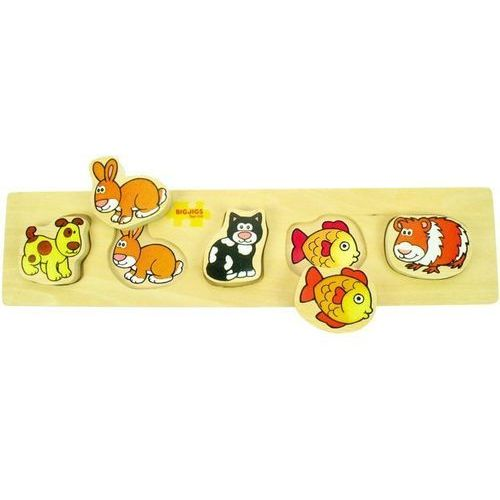 Puzzle z uchwytami - zwierzątka domowe, do zabawy dla dzieci,Bigjigs