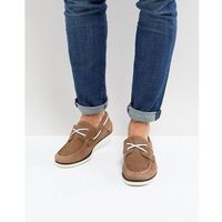 Tommy Hilfiger Classic Suede Boat Shoes in Tan - Tan