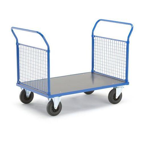 Wózek platformowy, 2 ramy końcowe z siatki, 1365x800 mm, bez hamulców, 73988