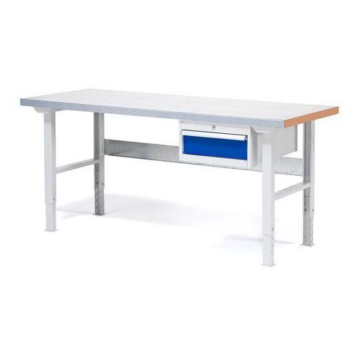 Stół warsztatowy solid, z szufladą, 750 kg, 1500x800 mm, stal marki Aj produkty