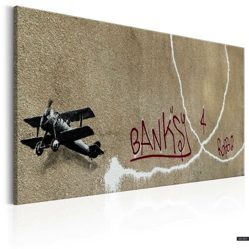 SELSEY Obraz - Love Plane by Banksy 90x60 cm