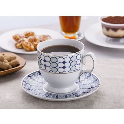 Mariapaula filiżanka cappuccino 350ml i spodek 17cm dek.kantata (l14) gift box marki Altom