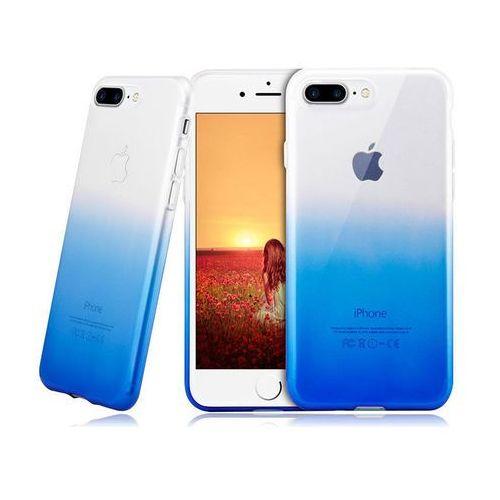Etui Alogy ombre case Apple iPhone 7 Plus / 8 Plus Niebieskie + Szkło - Niebieski