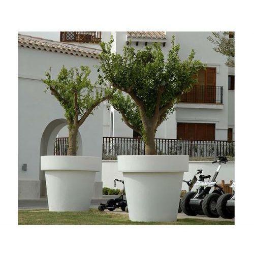 New garden donica magnolia 45 solar biała - led, sterowanie pilotem (5900000047188)