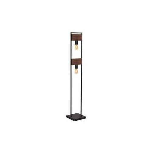 hard 668 lampa stojąca podłogowa 2x60w e27 ciemne drewno czarny marki Luminex