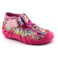 Kapcie dziecięce 190p091 - różowy ||kolorowy marki Befado