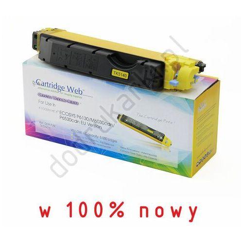 Toner żółty do Kyocera Ecosys M6030cdn M6530cdn P6130cdn - zamiennik TK-5140Y [5k]