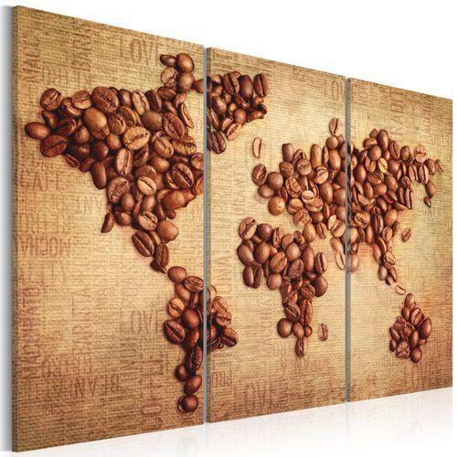Obraz - Kawy świata - tryptyk