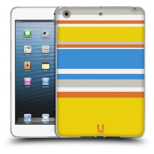 Head case Etui silikonowe na tablet - paski żółte i niebieskie