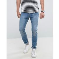 man slim jeans in light wash blue - blue, Mango