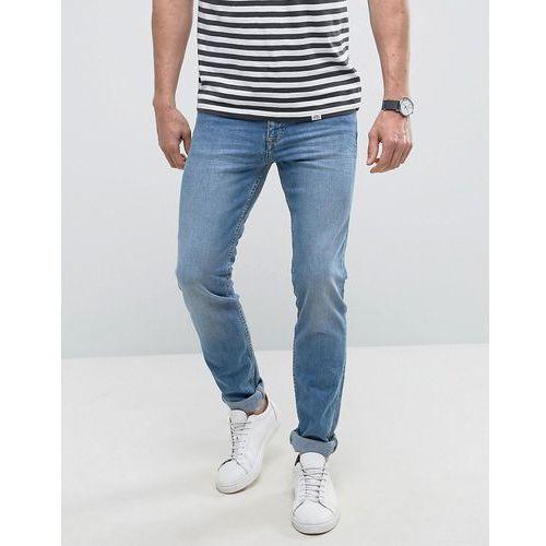 man slim jeans in light wash blue - blue marki Mango