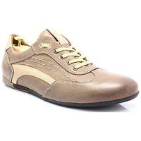 296 brąz - sportowo eleganckie skórzane buty - brązowy marki Kent
