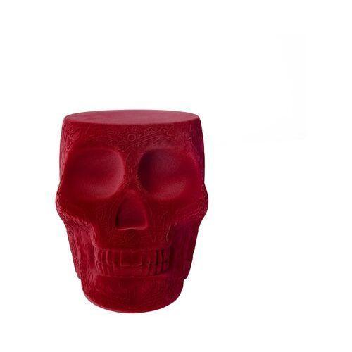 Qeeboo stołek i stolik boczny mexico velvet czerwony 70002re-fl