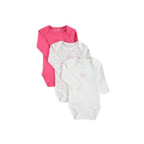 NAME IT Girls Body dziecięce 3 szt rouge red 5712835420315
