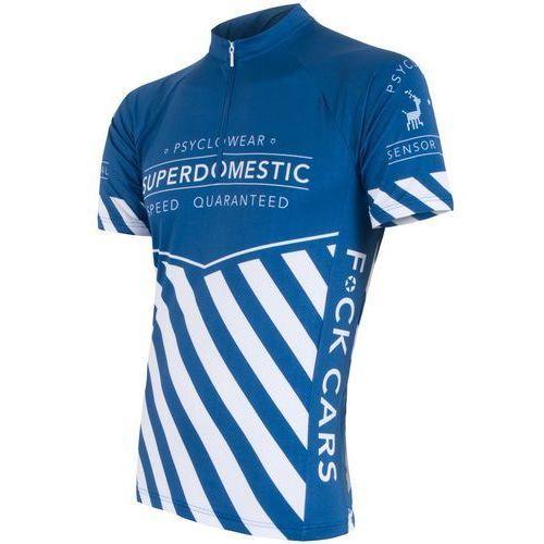 Sensor Męska koszulka z krótkim rękawem Cyklo Superdomestic Blue (8592837024554)