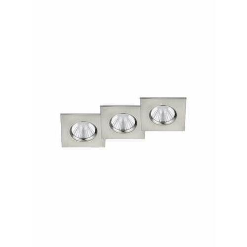 Trio Zagros 650610307 oczko komplet 3 sztuki IP65 3x5,5W LED 3000K nikiel mat, 650610307
