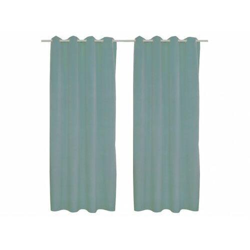 Zestaw 2 zasłon luxe – welur poliestrowy – 140 × 260 cm – kolor jasny niebieski marki Vente-unique