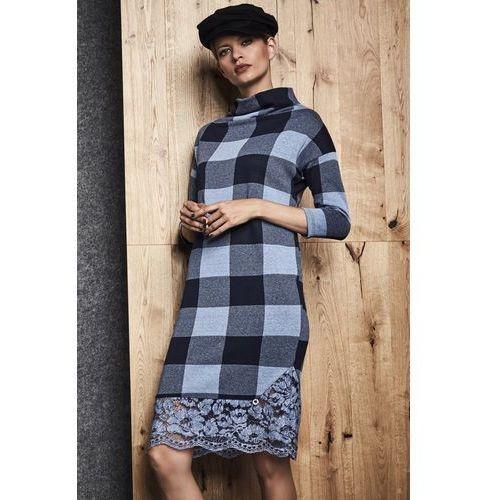 Sukienka w niebiesko-granatową kratę - Ennywear