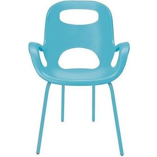 Krzesło Oh niebieskie z niebieskimi nogami