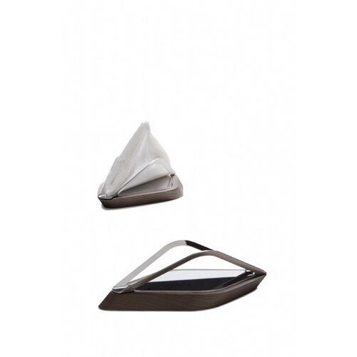 Casa bugatti - trattoria - stojak (łódka) na ręczniki papierowe - ciemne drewno