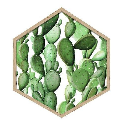 Obraz heksagonalny Kaktusy 2 35 x 40 cm (5901554530744)