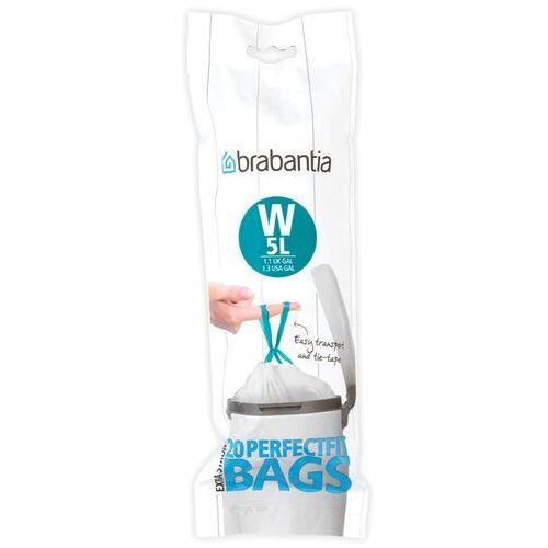 Brabantia Worki na śmieci perfectfit bags rozmiar w 5l 20 szt