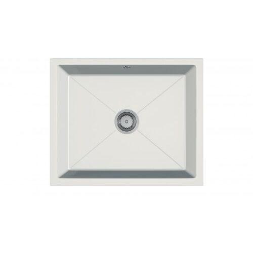 Zlewozmywak granitowy podwieszany desk biały marki Eos