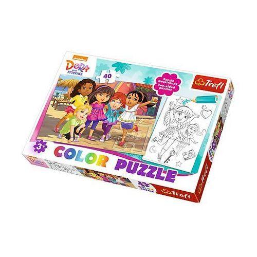 Trefl Puzzle color 40 elementów. dora i przyjaciele (5900511365122)