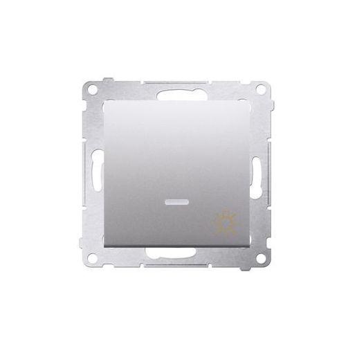 """Kontakt-simon Przycisk """"światło"""" simon 54 ds1l.01/43 z podświetleniem led srebrny mat (5902787823320)"""