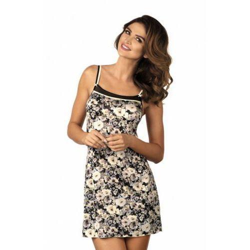 Koszula nocna model florence black/beige, Gorteks
