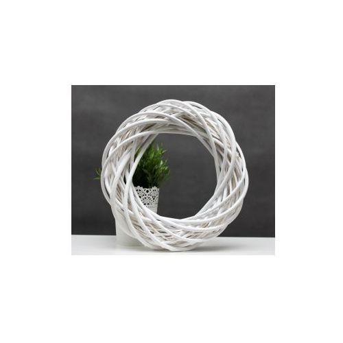 Wiklinowy wianek dekoracyjny biały 30 cm marki Pozostali