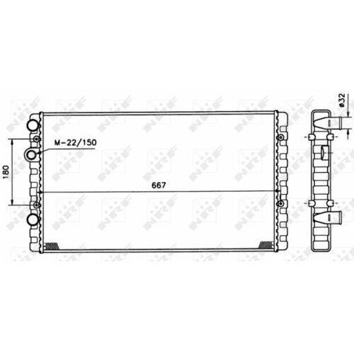 Chłodnica, układ chłodzenia silnika NRF 509521