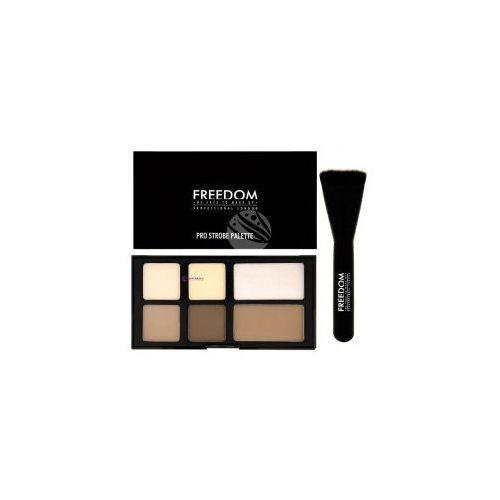 Freedom Set pro strobe cream palette (w) paleta do konturowania twarzy 15g + pędzel