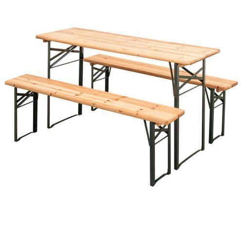 B2b partner Ogrodowy zestaw piwny, 2x ławka, 1x stół