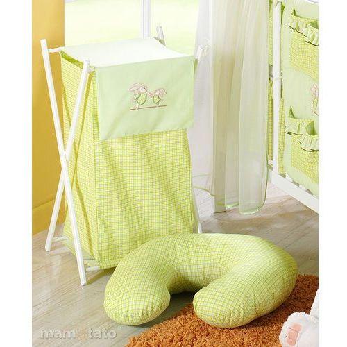 Mamo-tato kosz na bieliznę wesołe zajączki w zieleni