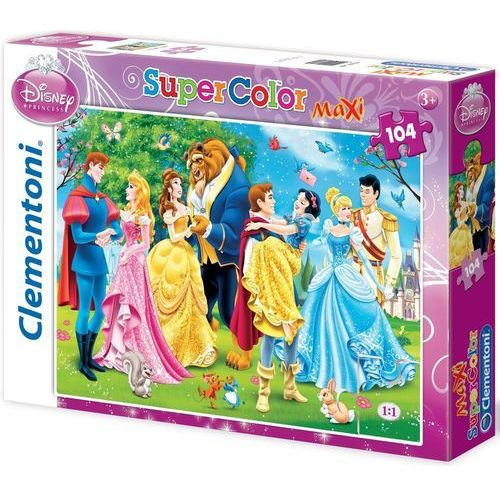 Clementoni Puzzle maxi 23656 księżniczki (104 elementy)