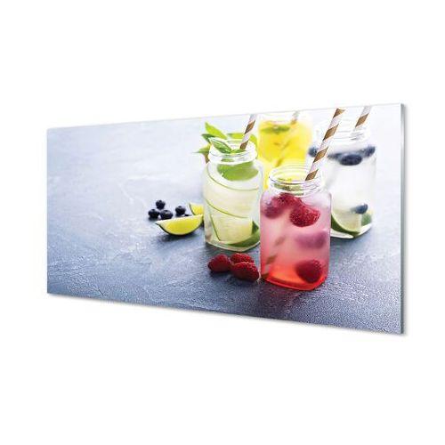 Tulup.pl Obrazy akrylowe koktajl malina limonka cytryna