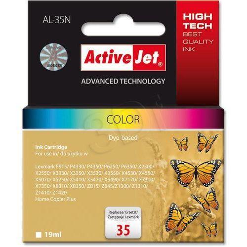 Tusz ActiveJet AL-35N kolorowy do drukarki Lexmark - zamiennik Lexmark 35 18C0035E, kolor Kolorowy