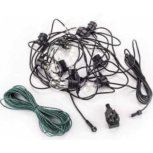 Lampki ogrodowe bella vista 10 szt. czarny kabel przezroczyste żarówki marki Seletti