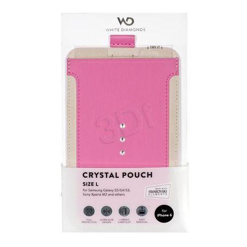 Pokrowiec WHITE DIAMONDS Crystal Pouch Uniwersalny L Różowy, 001537540000