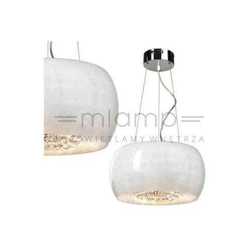 LAMPA wisząca LEXUS 400S bianco Orlicki Design szklana OPRAWA quince zwis z kryształkami crystal biały, LEXUS 400S bianco