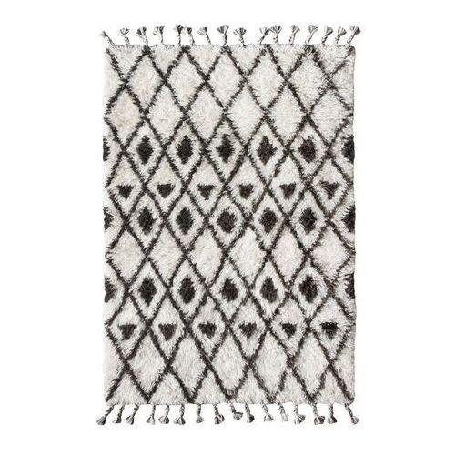 ręcznie tkany dywan berberski wykonany z wełny z brązowo-białymi wzorkami (120x180) ttk3020 marki Hkliving