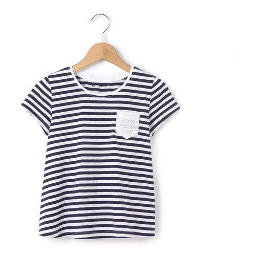 T-shirt w paski, z koronką z tyłu, 3-12 lat, kup u jednego z partnerów
