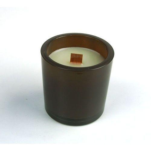 Świeca zapachowa Ombra Round brązowa (romantic rose) marki SlowLight - Brązowy