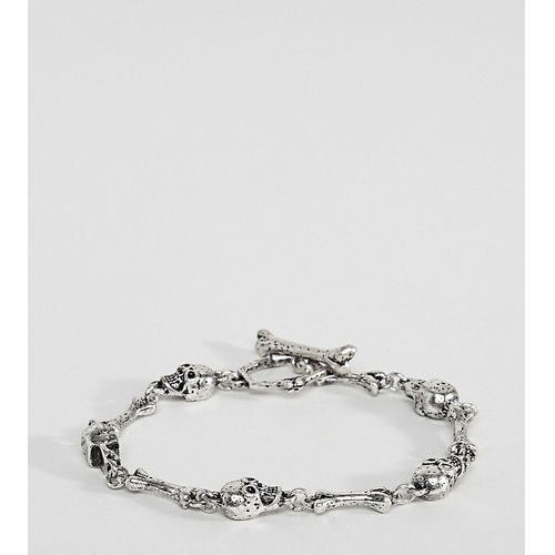 inspired plus chain bracelet with skulls exclusive to asos - silver marki Reclaimed vintage