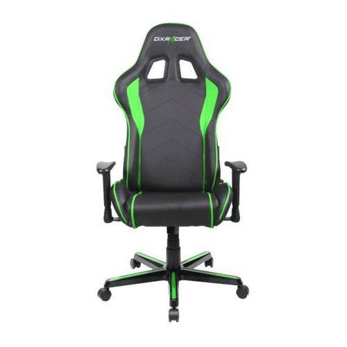 fotel formula fl08/ne, czarny/zielony (fl08/ne) marki Dxracer
