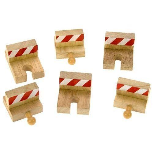 Zestaw bloków oporowych do zabawy, wyposażenie kolejek drewnianych bigjigs marki Bigjigs toys