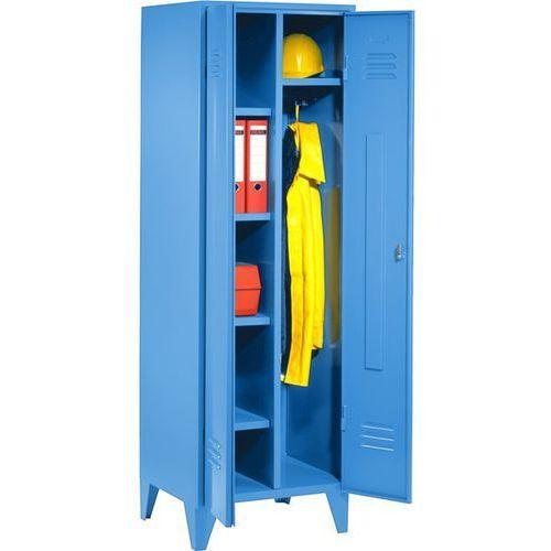 Eugen wolf Szafa stalowa, szafka socjalna z nóżkami, jasnoniebieski, ral 5012. spawana obud