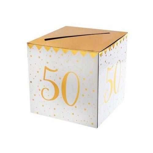 Pudełko na koperty z życzeniami, prezentami na 50-tkę - 1 szt. marki Santex